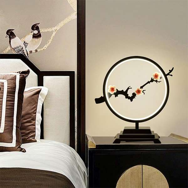 Iron Art Study Room/ Bedroom,Living Room Spray Paint Matte New Chinese Table Lamp