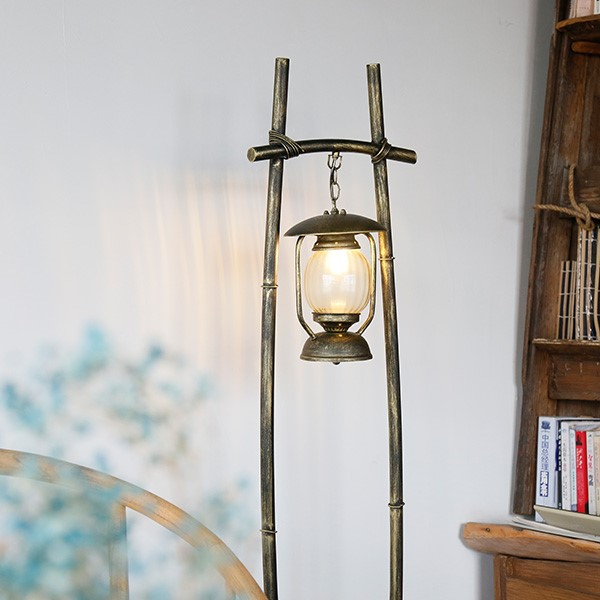 Iron Art,Glass Cloakroom,Restaurant,Study/ Bedroom,Living Room Spray Hand Paint Pastoral Floor Lamp