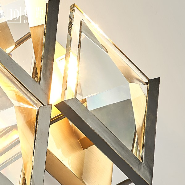 Crystal,Copper Study Room/ Bedroom,Corridor/ Aisle/ Entrance,Stairs/ Corner Spray Paint Frosted Post Modern Wall Lamp, Single Head