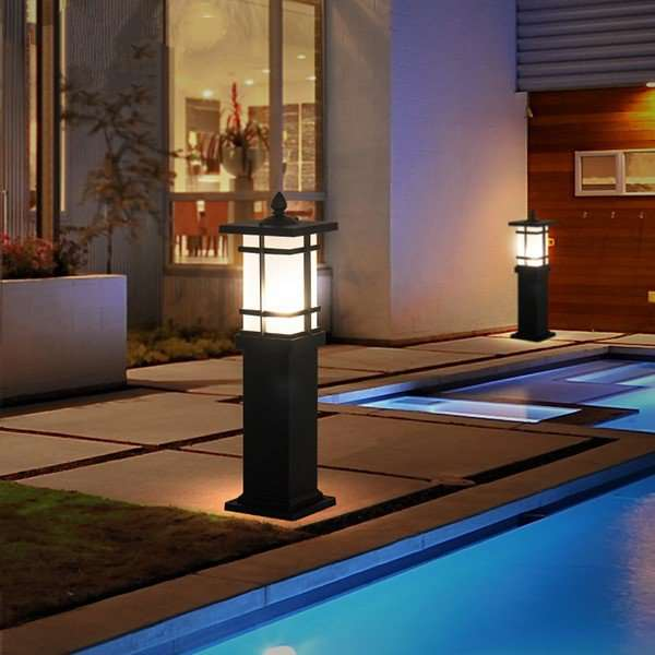 Aluminum,Glass Outdoor Die Cast Chinese Outdoor Lamp
