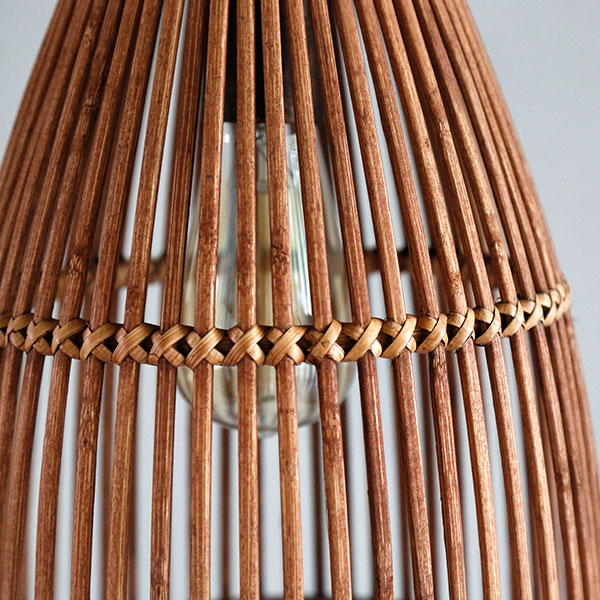 Bamboo Art Living Room,Restaurant,Balcony Hand Woven Pastoral Chandelier,1 Lights