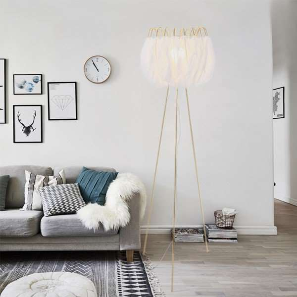 Iron Art,Feather Living Room,Study/ Bedroom Nordic\ IKEA Floor Lamp