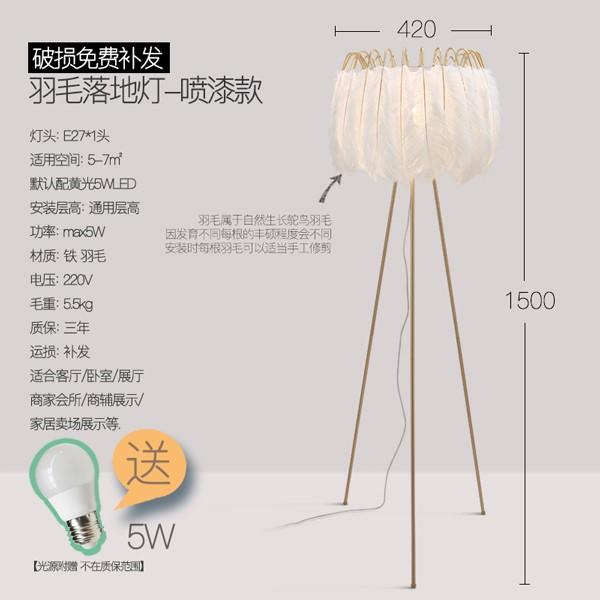 Iron Art,Feather Living Room,Study/ Bedroom Nordic\ IKEA Floor Lamp