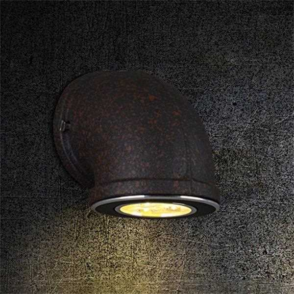 Iron Art Corridor/ Aisle/ Entrance,Stairs/ Corner Spray Paint Frosted Industrial Wind Wall Lamp, Single Head