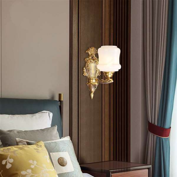 Glass,Copper Corridor/ Aisle/ Entrance,Study/ Bedroom,Living Room Dyeing New Chinese Wall Lamp, Single Head
