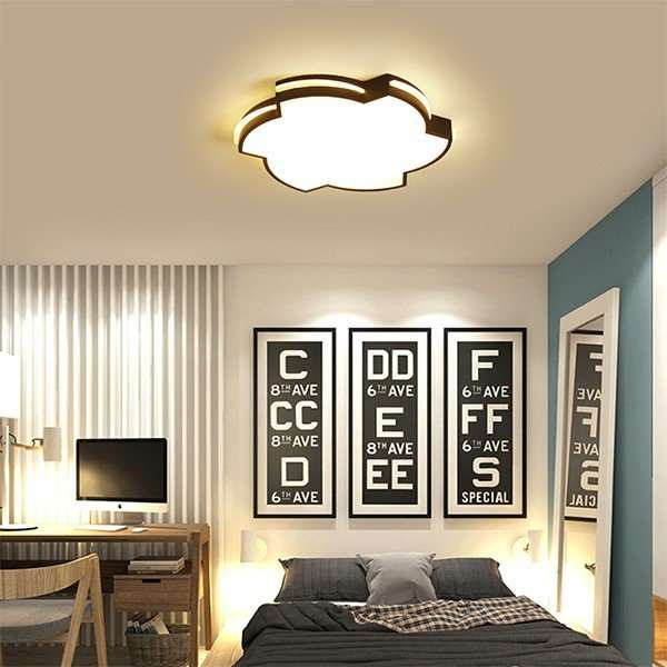 Iron Art,Acrylic Study Room/ Bedroom,Children's Room Spray Paint Frosted Modern Simple Ceiling Lamp