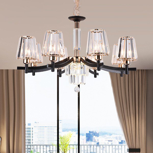 Iron Art,Crystal Living Room Others/other Postmodern Chandelier,8 Lights