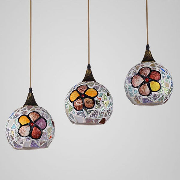 Glass,Shell Study/ Bedroom,Restaurant Other/other American Simple Chandelier,3 Lights