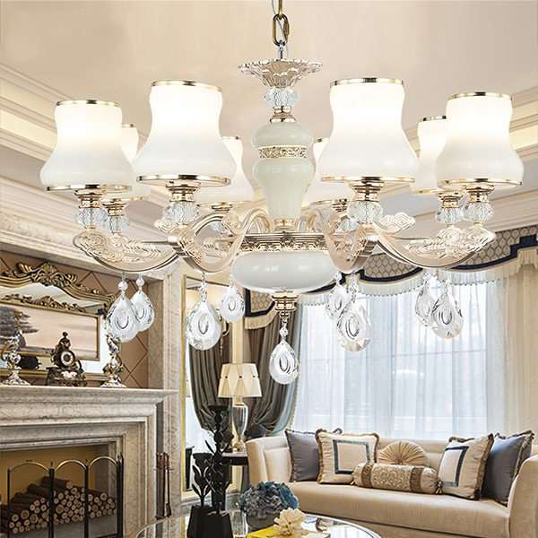 Iron Art,Glass,Crystal,Zinc Alloy Restaurant,Study/ Bedroom,Living Room Electroplating European Chandelier,8 Lights