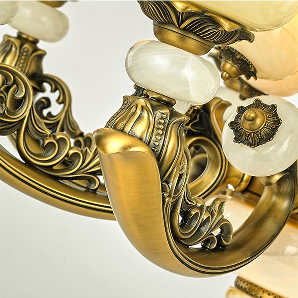Zinc Alloy,Jade,Iron Art Chess And Card Room/ Mahjong Museum,Restaurant,Study/ Bedroom Electroplated European Chandelier,6 Lights