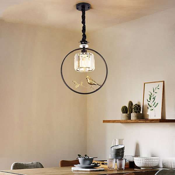 Iron Art,Crystal Others,Restaurant,Cloakroom American Minimalist Chandelier,1 Lights