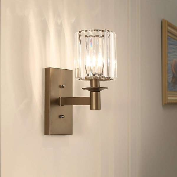 Iron Art,Glass Corridor/ Aisle/ Entrance,Living Room Spray Paint Frosted American Simple Wall Lamp, Single Head