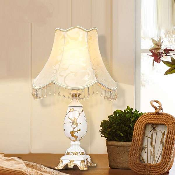 Cloth Art,Resin Living Room,Study/ Bedroom Carved European Table Lamp