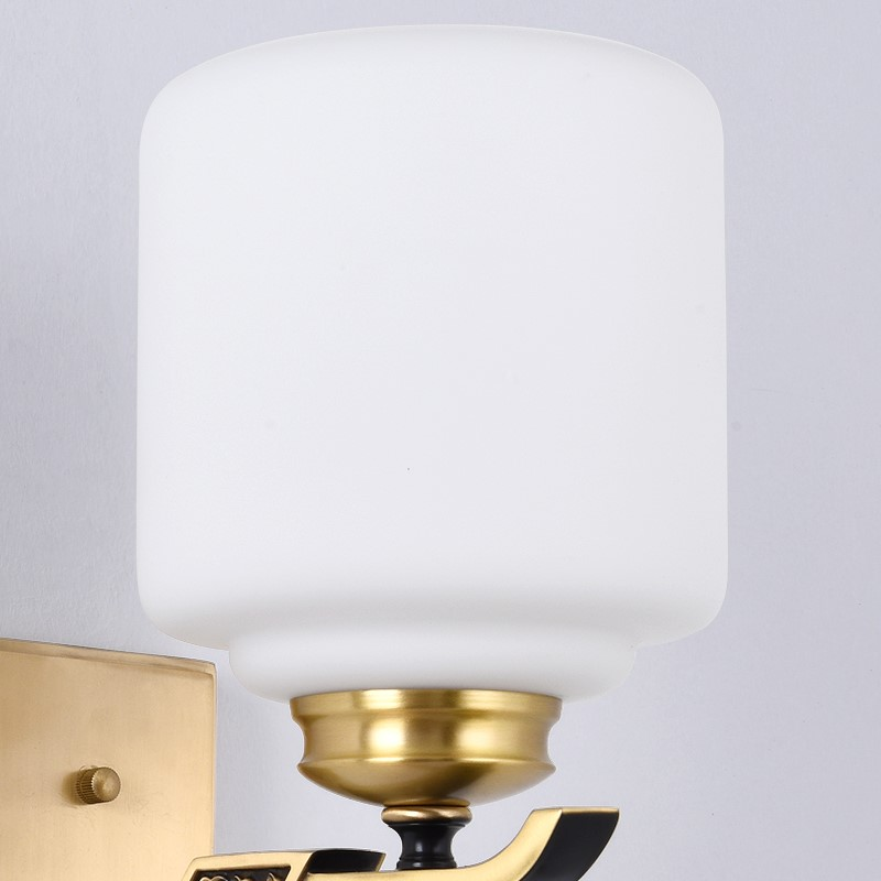 Copper,Glass Villa/ The Hotel Lobby,Living Room,Study/ Bedroom Dyeing New Chinese Wall Lamp, Single Head