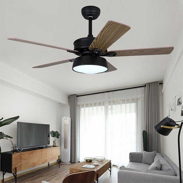 Iron Art,Wood Art,Acrylic Living Room,Study/ Bedroom,Electroplated American Simple Fan Light In Dining Room,1 Lights