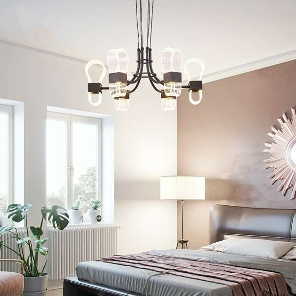 Iron Art,Aluminum,Acrylic Living Room,Study/ Bedroom,Restaurant Brushed Hanging Art Personality Chandelier,6 Lights