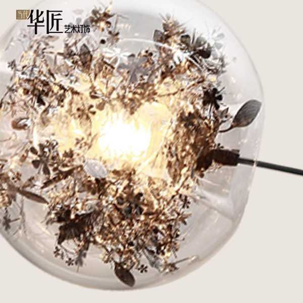 Iron Art,Glass Study Room/ Bedroom,Restaurant Other/other Modern Minimalist Chandelier,1 Lights