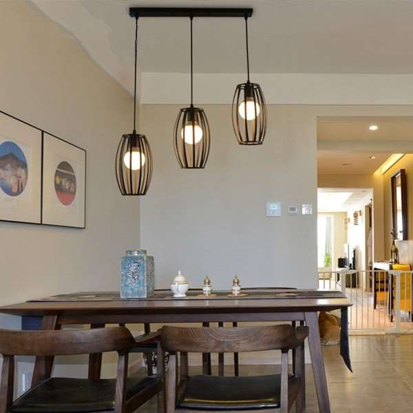 Iron Art Restaurant,Corridor/ Aisle/ Porch Spray Paint Frosted Industrial Wind Chandelier,3 Lights