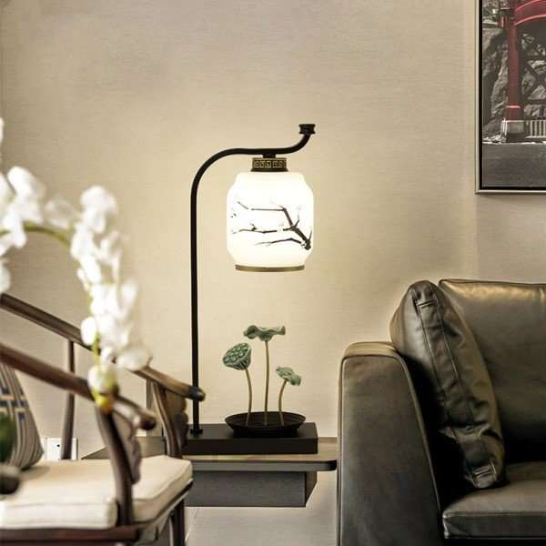 Iron Art,Glass,Ceramic Living Room,Study/ Bedroom Hot Bend New Chinese Table Lamp