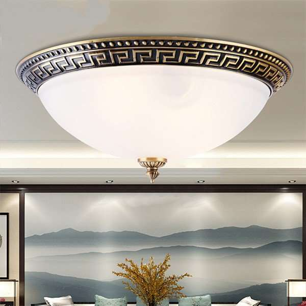 Glass,Copper,Iron Art Balcony,Study/ Bedroom Forged New Chinese Ceiling Lamp