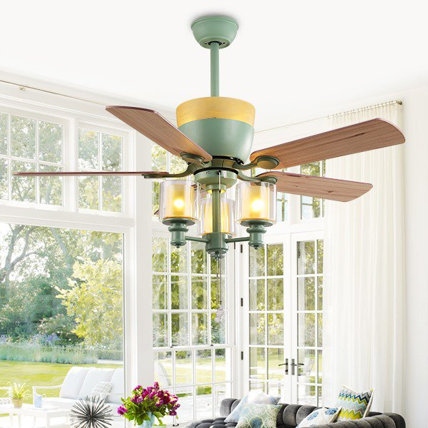 Iron Art,Copper,ABS Living Room,Study/ Bedroom,Restaurant American Simple Fan Light,1 Lights