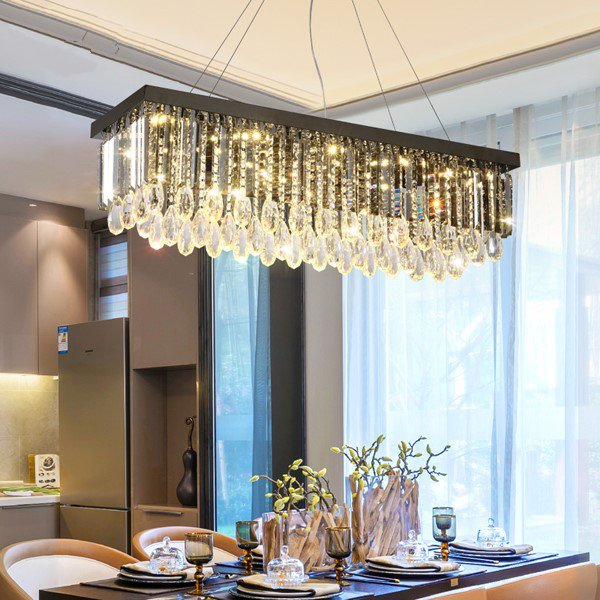 Crystal,Stainless Steel Restaurant,Other Brushed Hanging Postmodern Chandeliers,10 Lights