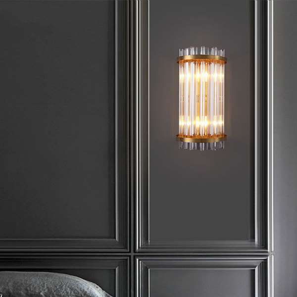 Iron Art,Glass Living Room,Corridor/ Aisle/ Entrance,Stairs/ Corner Electroplated Light Luxury Wall Lamp, Single Head