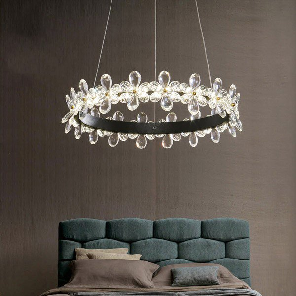 Iron Art,Crystal Living Room,Study/ Bedroom,Restaurant Painted Frosted Post Modern Chandelier,1 Lights