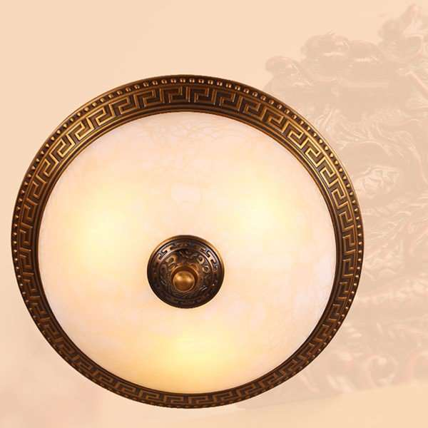 Glass,Copper Study Room/ Bedroom,Children's Room Dyed European Ceiling Lamp
