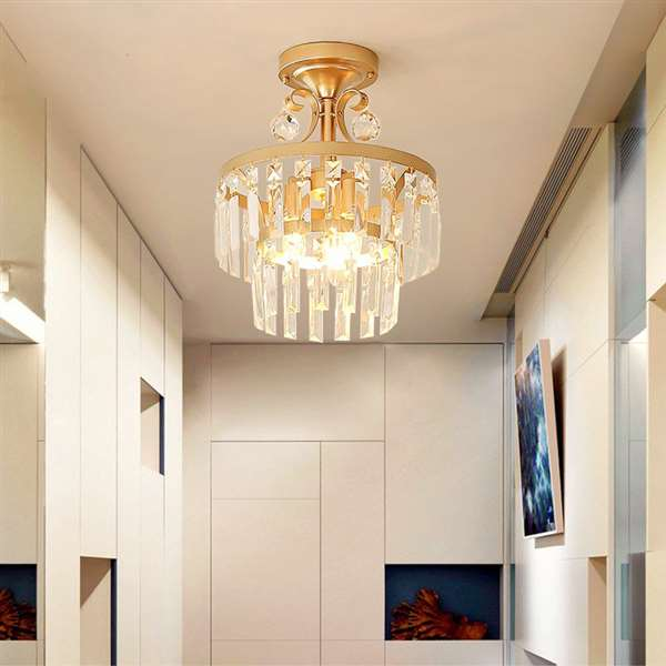 Iron Art Study Room/ Bedroom,Restaurant Painted Frosted American Country Chandelier,1 Lights