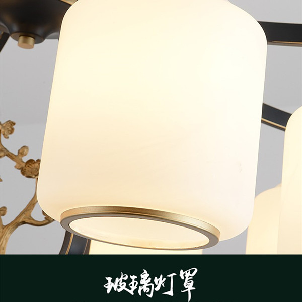 Iron Art,Glass,Resin Chess And Card Room/ Mahjong Museum,Restaurant,Study/ Bedroom Hot Bend New Chinese Chandelier,6 Lights
