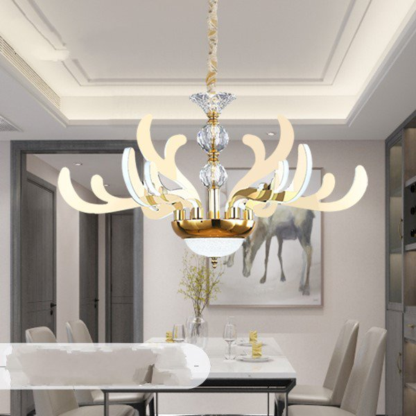 Acrylic,Stainless Steel Others,Dining Room Electroplating Light Luxury Chandelier,9 Lights