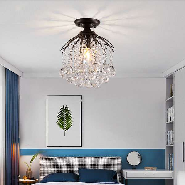 Iron Art,Crystal Restaurant,Corridor/ Aisle/ Entrance,Study/ Bedroom American Simple Ceiling Lamp