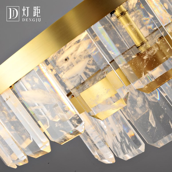 Crystal,Copper,Stainless Steel Children's Room,Study/ Bedroom,Restaurant Painted Frosted Post Modern Chandelier,6 Lights