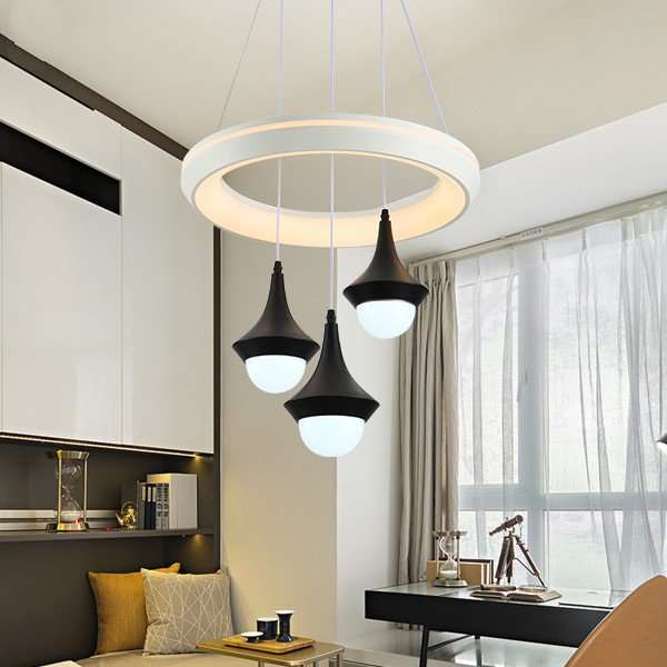 Iron Art,Acrylic Living Room,Study/ Bedroom,Restaurant Modern Minimalist Chandelier,3 Lights