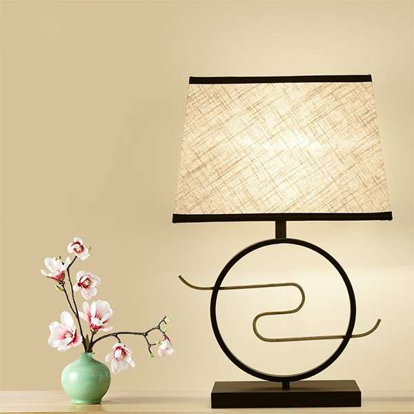 Iron Art,Copper,Cloth Living Room,Study/ Bedroom,Restaurant Painted Matte New Chinese Table Lamp