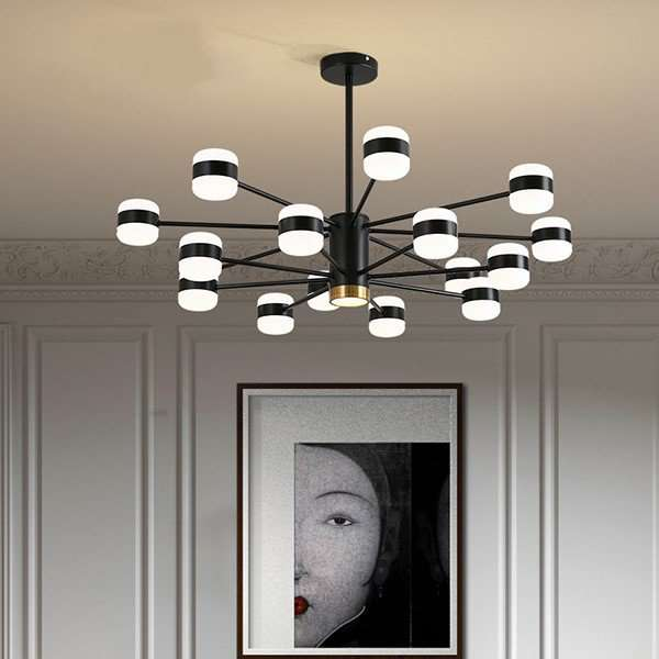 Iron Art,Aluminum Living Room,Study/ Bedroom,Restaurant Painting And Sanding Northern Europe\ IKEA Chandelier,16 Lights