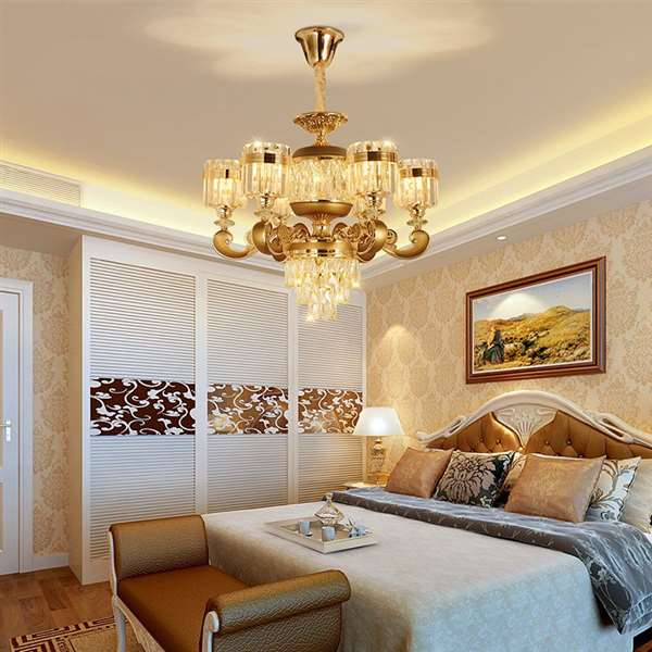 Crystal,Zinc Alloy Corridor/ Aisle/ Entrance,Study/ Bedroom,Dining Room Electroplating Light Luxury Chandelier,6 Lights