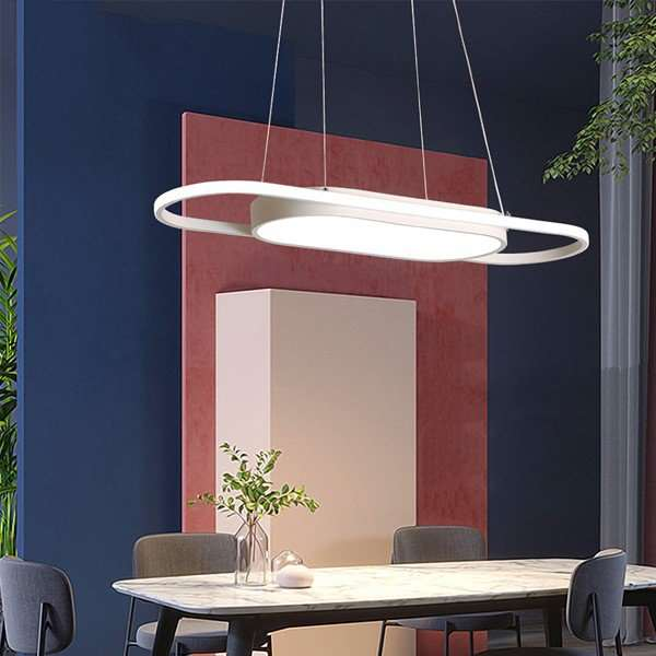Aluminum,Tieyi Restaurant Spray Painting And Frosting Modern Simple Chandelier,1 Lights