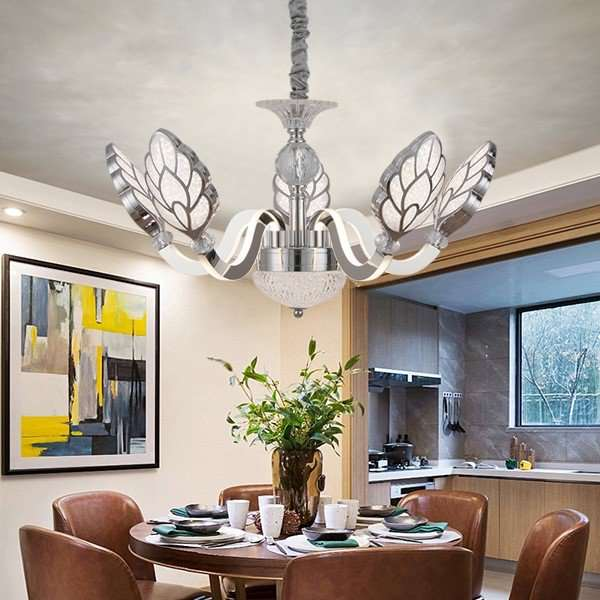 Acrylic,Stainless Steel,Crystal Restaurant,Study/ Bedroom,Cloakroom Plating Modern Minimalist Chandelier,5 Lights