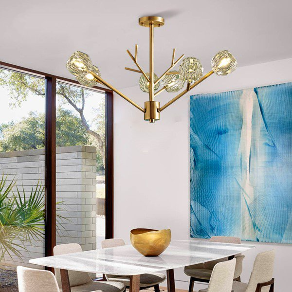 Copper,Crystal Children's Room,Cloakroom,Corridor/ Aisle/ Porch Stained Light Luxury Chandelier,6 Lights