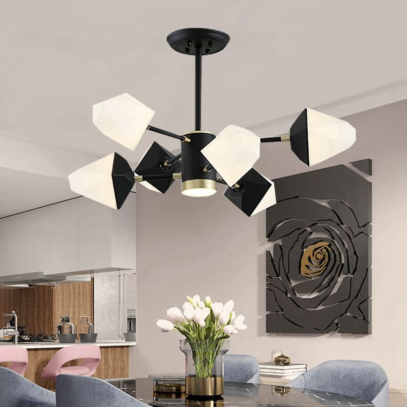 Iron Art,Acrylic Living Room,Study/ Bedroom,Restaurant Spray Sanding Art Personality Chandelier,6 Lights