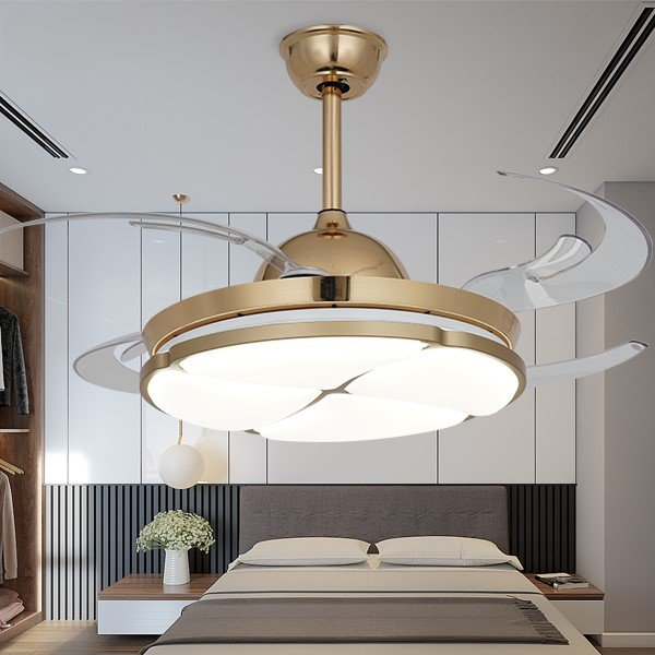 Copper,Acrylic,PC Restaurant,Study/ Bedroom,Living Room Electroplating Modern Simple Fan Light,1 Lights