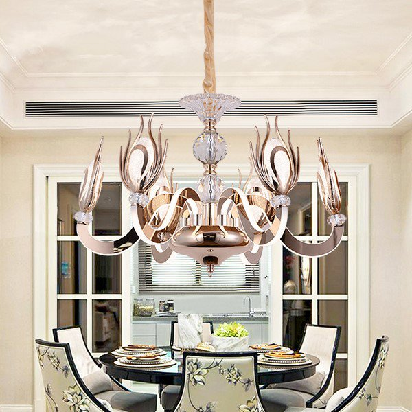Acrylic,Stainless Steel,PC Restaurant,Other Electroplating Light Luxury Chandeliers,6 Lights