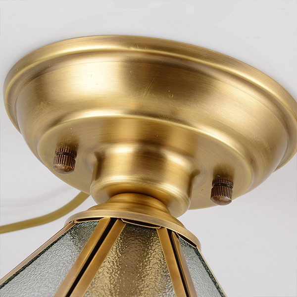 Glass,Copper Corridor/ Aisle/ Entrance,Study/ Bedroom Soldering European Ceiling Light