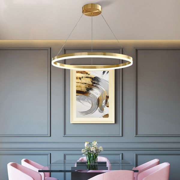 Copper Living Room,Study/ Bedroom,Restaurant Dyed Modern Minimalist Chandelier,1 Lights