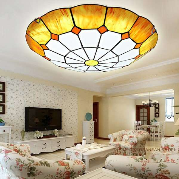 Glass Study Room/ Bedroom,Living Room And Other/other Mediterranean Ceiling Light