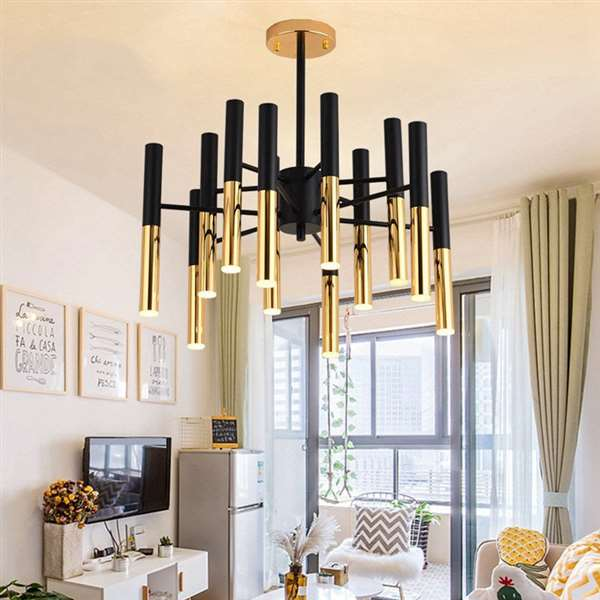 Acrylic,Iron Living Room,Restaurant Painted Frosted Post Modern Chandelier,12 Lights