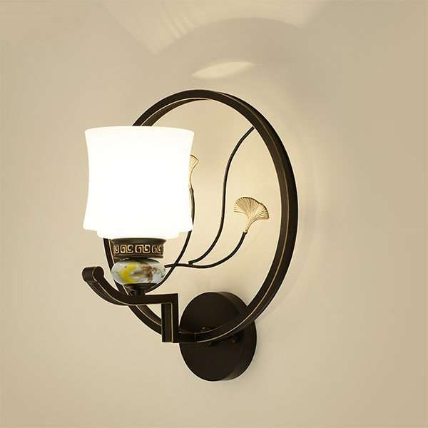 Iron Art,Glass Corridor/ Aisle/ Entrance,Study/ Bedroom,Living Room Spray Paint Matte New Chinese Wall Lamp, Single Head