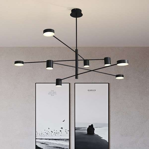 Aluminum,Iron Living Room,Study/ Bedroom,Restaurant Painting And Sanding Northern Europe\ IKEA Chandelier,8 Lights